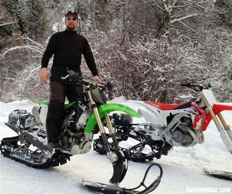 snowbike scene snowmobilecom