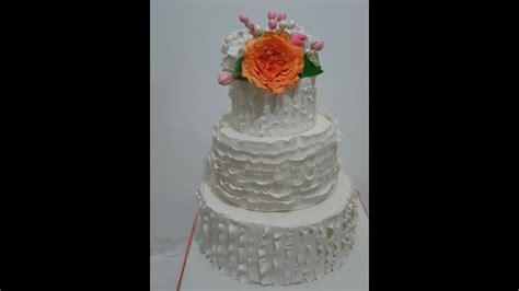 ruffle wedding cake youtube