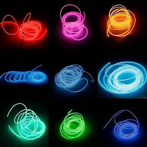3m Led Flexible El Wire Rope Tube Lamp Light With