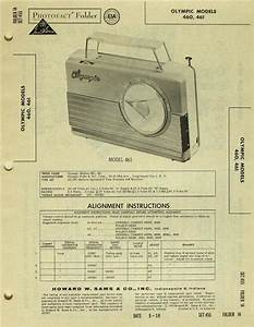 Olympic Portable Radio Model 460  461 Photofact