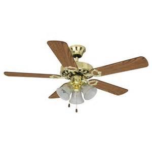 mainstays 42 quot dual mount 3 light ceiling fan bright brass