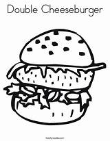 Cheeseburger Coloring Worksheet Double Burger Dog Template Cook Sheet Hamburger Cursive Outline Taco Tracing Handwriting Printable Tacos Mexico Twistynoodle Login sketch template