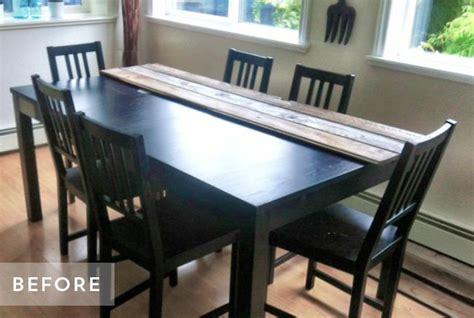 relooker table de cuisine diy relooker une table avec des lames de parquet