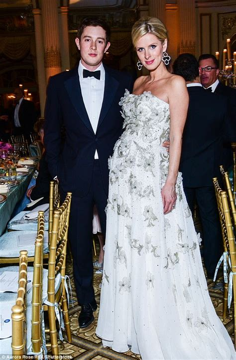 pregnant nicky hilton enjoys glam date night  husband