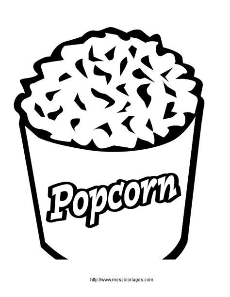 jeux de cuisine gratuit coloriage nourriture popcorn à colorier allofamille
