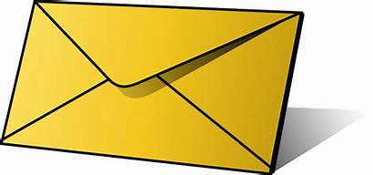 Envelope Clipart Letter Clip Envelopes Envelop Yellow