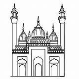 Mosque Masjid Colouring Gambar Mewarnai Clipart Coloring Api Unggun Kartun Pngwave Webstockreview Mobile Tempat Ratulangi Cliparts sketch template