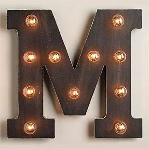 16quot marquee letter quotmquot design house la http wwwamazon With letter lights amazon