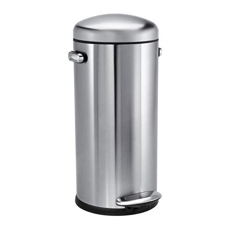 poubelle cuisine 30 litres poubelle de cuisine à pédale 30 litres inox style rétro