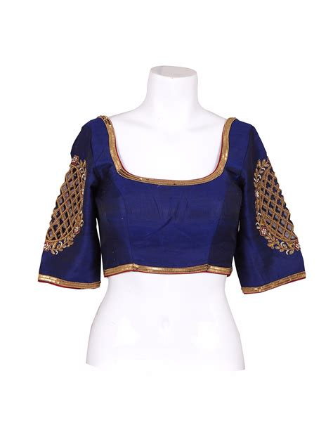 navy silk blouse attractive navy silk ready made blouse g3 rb0526