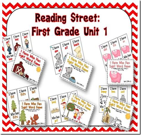 Reading Street First Grade Unit 3 Review  Reading Street Grade 1 Unit Sight Word Review