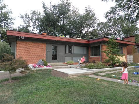 Red Porch Austin by Mid Century Modern Color Combination For Exterior That Has