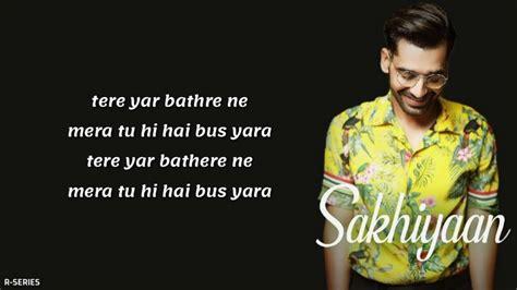 Sakhiyaan Mp3 Song