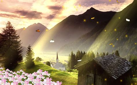 Animated Landscape Wallpaper - beautiful landscape screensaver animated wallpape r