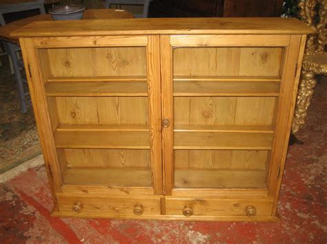 pine kitchen wall cabinets pine glazed wall cabinet antiques atlas 4227