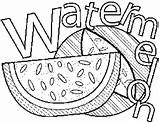 Watermelon Coloring Pages Printable Freeprintablecoloringpages Adult Line Printables Embroidery Applique sketch template