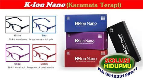 kacamata  ion nano warna hitam tulisanviralinfo