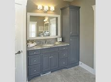 bathroom with no linen closet Vanity with linen cabinet