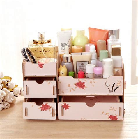 Jual Jual Diy Desktop jual diy desktop storage makeup rack rak makeup wooden
