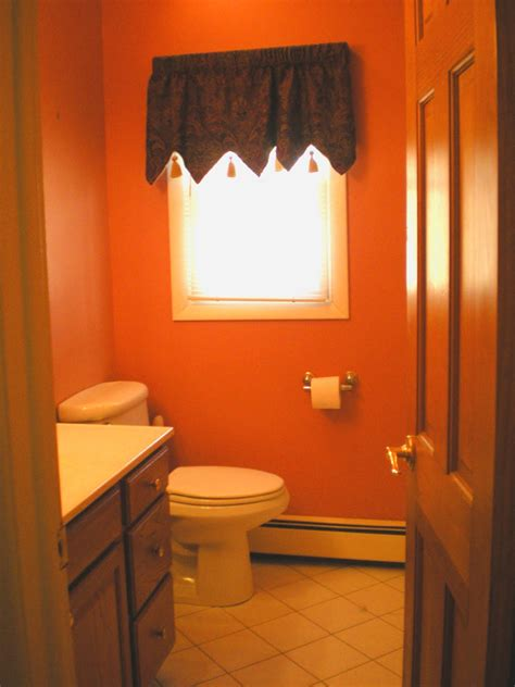inspirations small guest orange bathroom painting ideas
