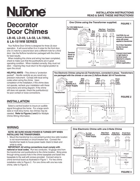 Nutone Door Chime Wiring Diagram  32 Wiring Diagram