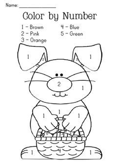 easter color  numbers  coloring pages  kids