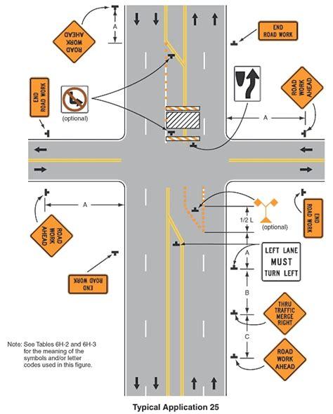 traffic accommodation plan template alberta figure 3 mutcd figure 6h 25 multiple lane closures at