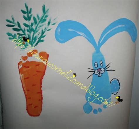 le lapin  la carotte pieds  chez nounou corneille