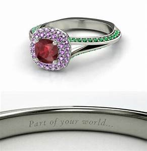 ariel engagement ring disney engagement rings With disney inspired engagement wedding rings