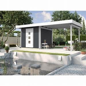 Gartenhaus Grau Mit Anbau : weka gartenhaus weka line b wandst rke 28 mm anthrazit ~ Articles-book.com Haus und Dekorationen