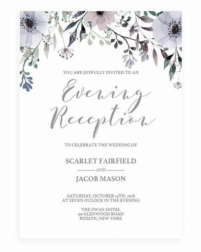 Invitation Reception Evening Template Invite Engagement Cards