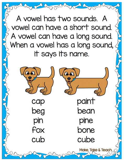 8 on activities for teaching and vowel