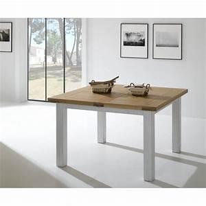 Table Chene Massif : table carr e en ch ne massif 125 ~ Melissatoandfro.com Idées de Décoration