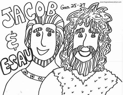Jacob Esau Coloring Pages Bible Printable Activities