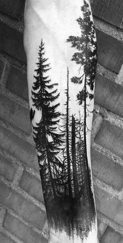 Evergreen Tree Tattoo Sleeve Tat 58 Ideas #tattoo #tree   Tree sleeve tattoo, Geometric tattoo