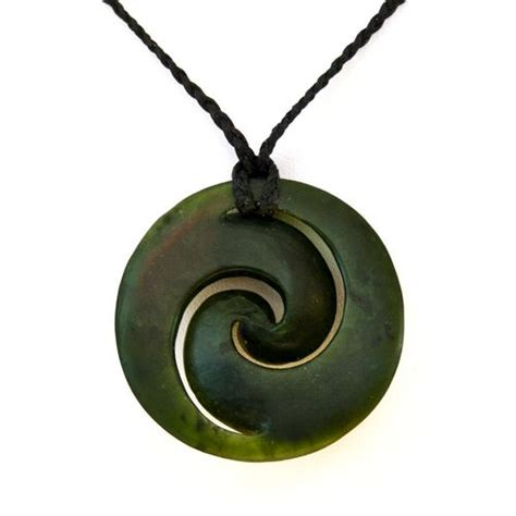 Kawakawa Greenstone Double Koru Pendant by Ngai Tahu ...