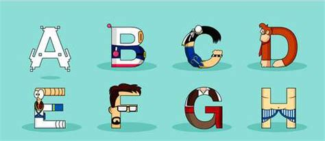 terrific gamer typography video games characters alphabet