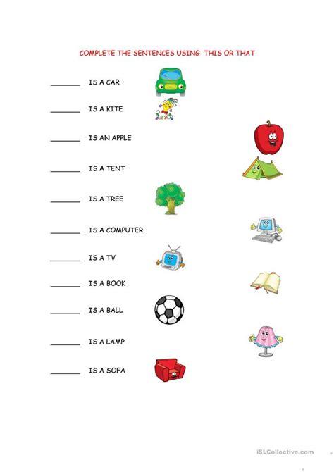 thisthat worksheet worksheet  esl printable
