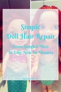 Doll Hair Repair  The Simple Way To Make Dolls Look Like