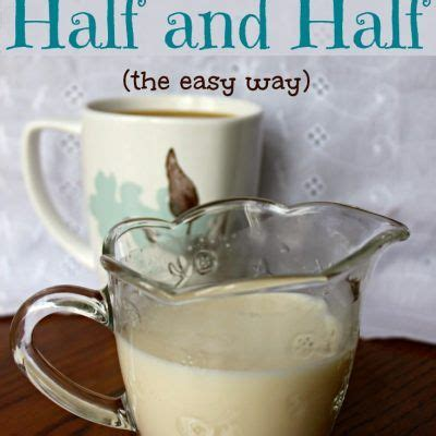 This easy homemade coffee creamer is made with three ingredients and it comes together in minutes! Homemade Half and Half | Recipe | Half and half cream, Half and half recipes, No dairy recipes