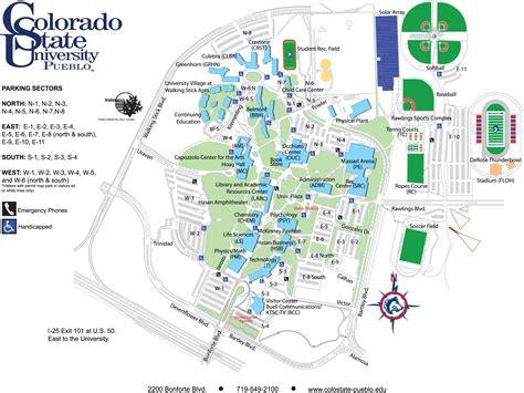 colorado state university cus map colorado state university pueblo maps csu pinterest