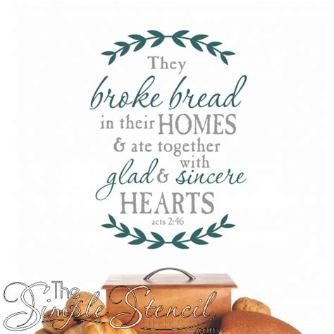 they bread acts 2 46 bible verse christian custom