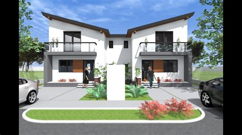 Modern Small Duplex House Design 3 Bedroom Duplex Design