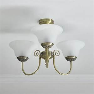 Wilko york light fitting ceiling antique brass effect