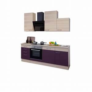 Küche 220 Cm : k chenzeile focus k che mit auszug unterschrank breite 220 cm aubergine k che k chenzeilen ~ Eleganceandgraceweddings.com Haus und Dekorationen