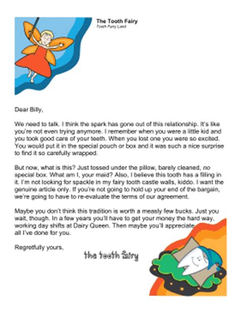 Tossed Terms Box Template by Printable Tooth Fairy Letter Older Kid