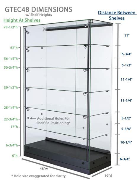 display cases vertical lighting adjustable shelf display silver