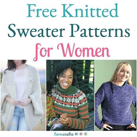 knitting patterns  womens sweaters