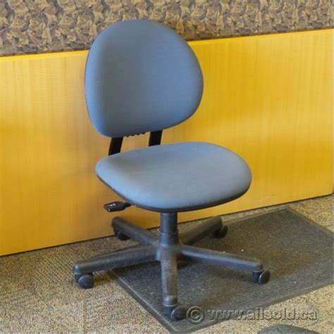 steelcase blue adjustable task chair no arms allsold ca