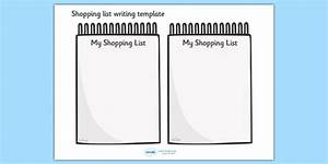 Shopping List Writing Template - Blank shopping list templates